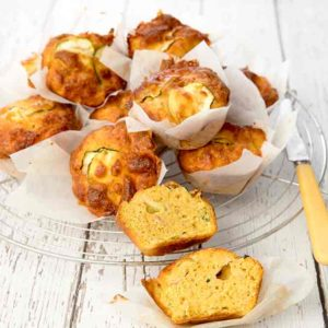 School Lunch Box Ideas - Zucchini Bacon Muffin