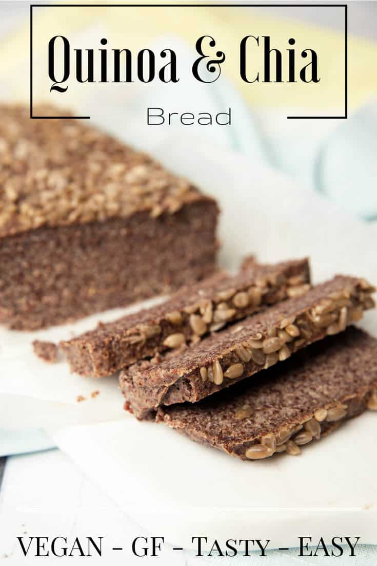 Quinoa Chia Bread Loaf -Pin Me