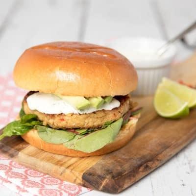 Brioche Salmon Burger