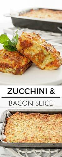 Zucchini & Bacon Slice