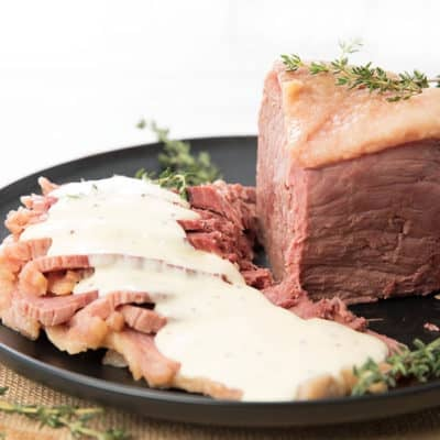 Thermomix Corn Beef with Sauce