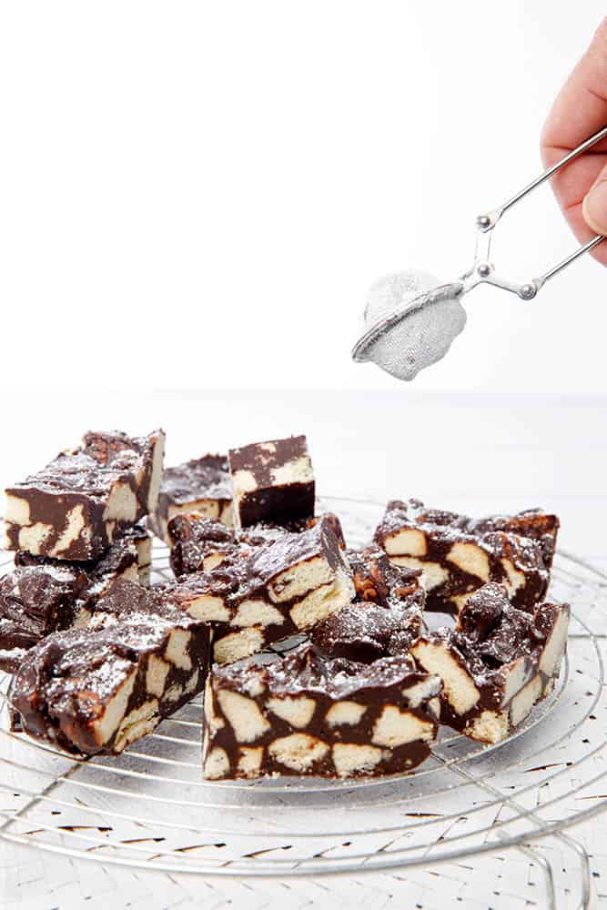 Fudgey Chocolate Slice