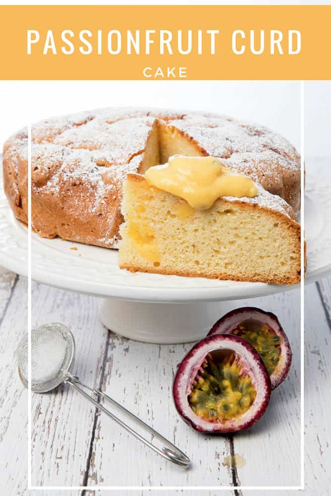 PASSIONFRUIT CURD CAKE - Next time you have extra passionfruit on hand why not make this decadent passionfruit curd cake. This delicious tea cake is so easy in the Thermomix.