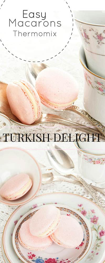 Thermomix Turkish Delight Macarons - Something sweet for that someone special! #Thermomix #Mothers Day #Macarons