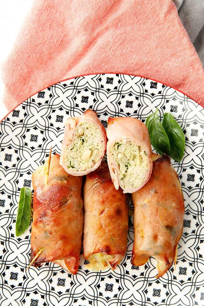 LCHF Chicken Ham Rolls