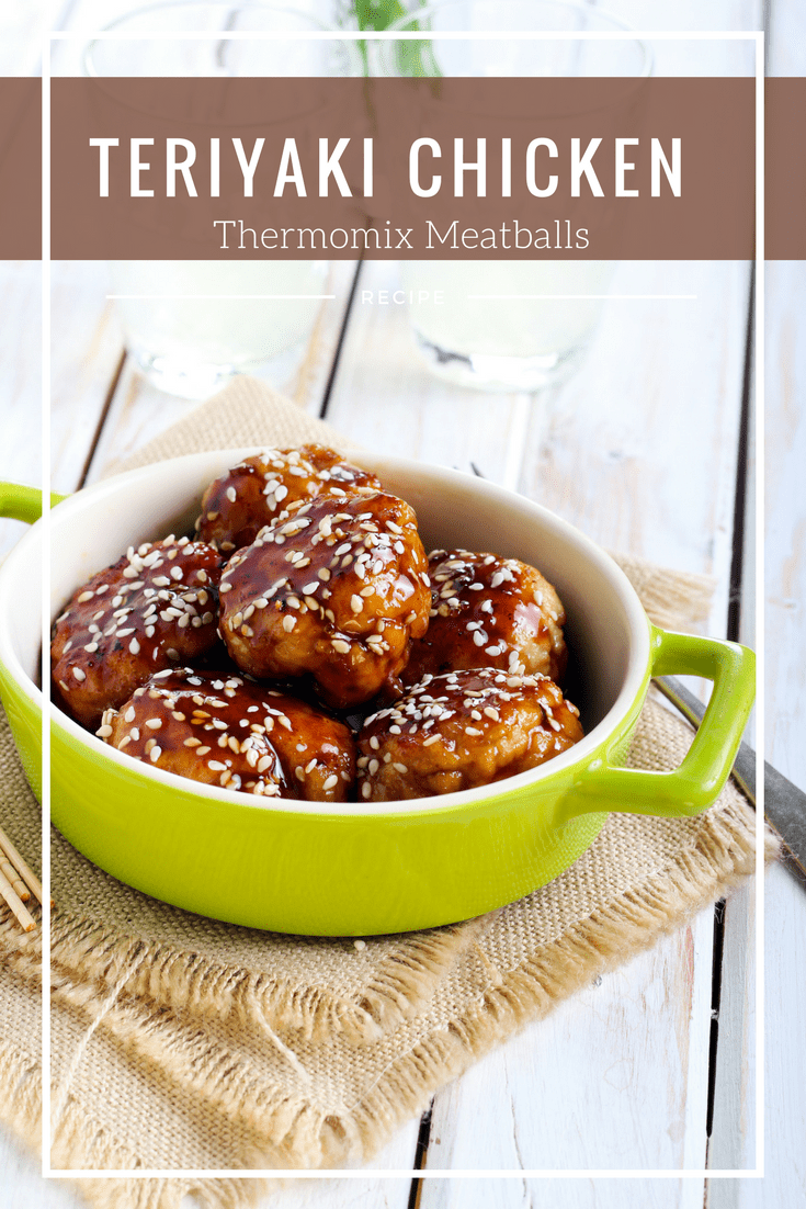Thermomix Chicken Teriyaki Meatballs