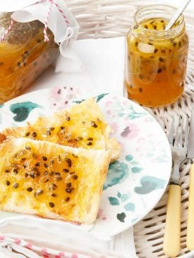 Thermomix Passionfruit Jam Toast