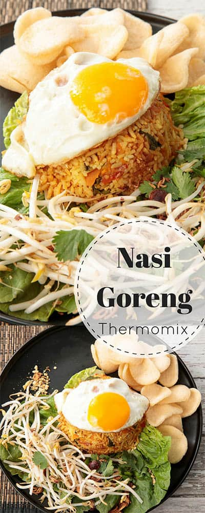 Balinese Nasi Goreng Recipe - Thermomix Style  Nasi Goreng is everyone's favourite Balinese dish. Make this recipe quickly & easily in the Thermomix. The recipe can be adapted to use chicken or tofu. #Thermomix #Balinese #Nasigoreng