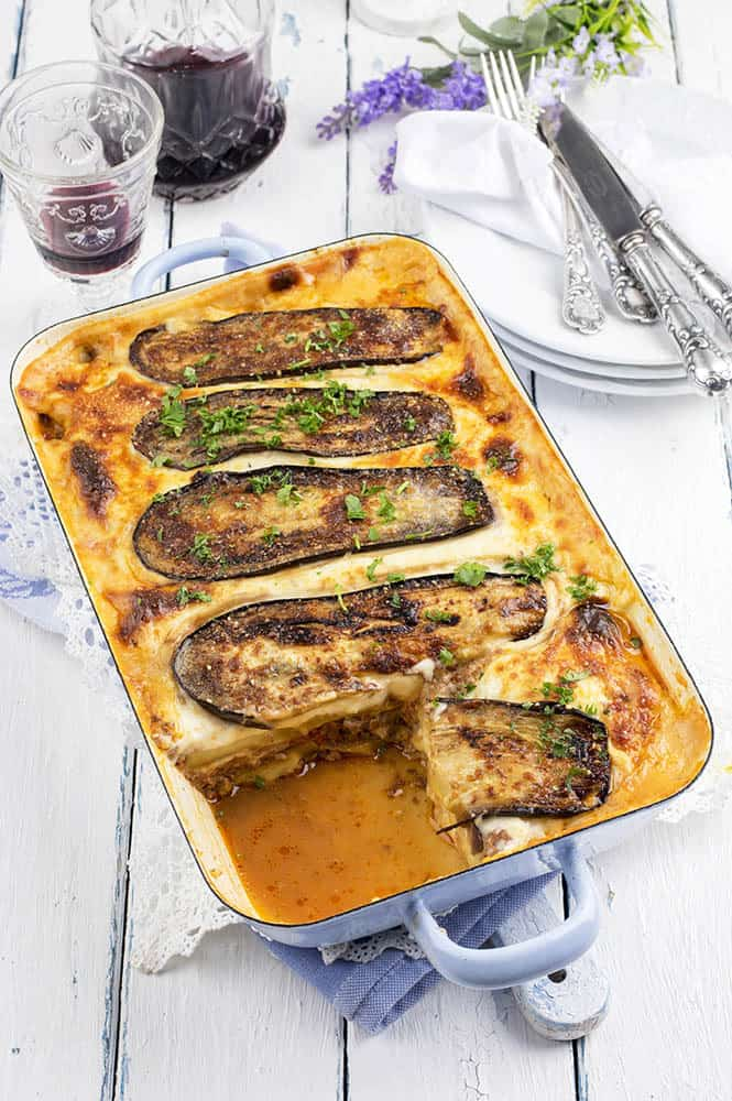 Vegetarian Moussaka Baking Tray
