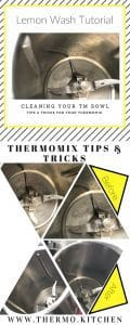 Thermomix Bowl Lemon Wash