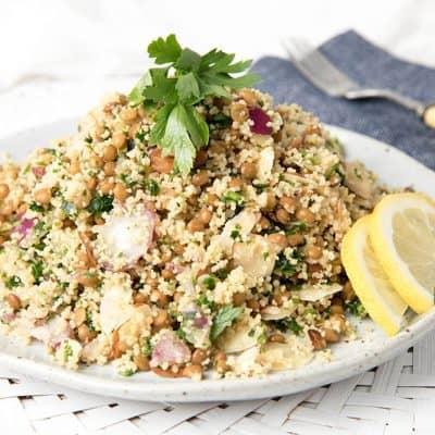 Lentil Couscous Salad