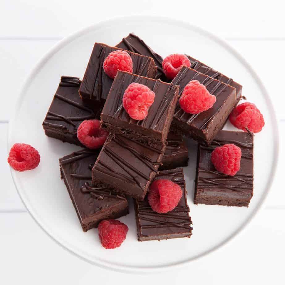 Nutella Fudge Brownie w Raspberries
