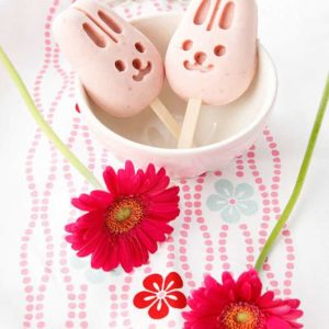 Strawberry Cream Ice cream Popsicles