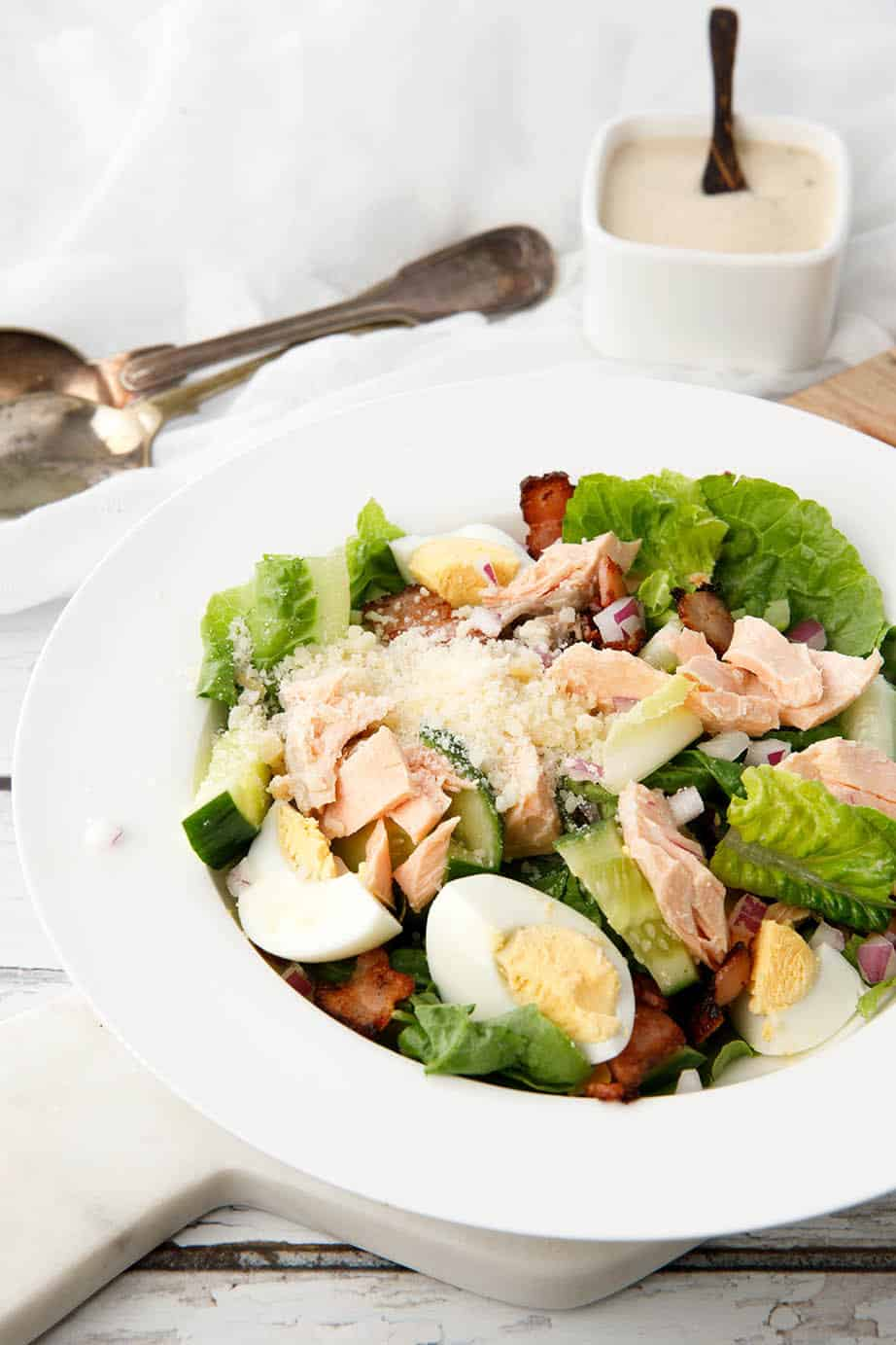 Salmon Caesar Salad -30min Thermomix Recipe