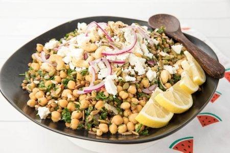 Feta Chickpea Tabouli Salad
