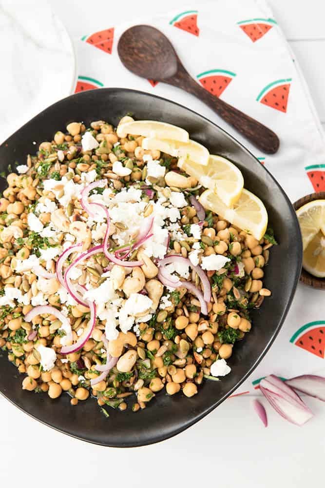 Gluten Free Feta and Chickpea Tabouli