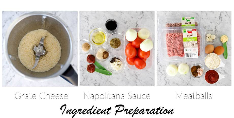 Image showing step in preparing ingredients for meatballs