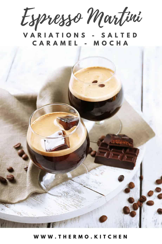 Profile pic espresso martini with chocolate on a white board