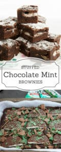 Chocolate peppermint brownie pin with two images