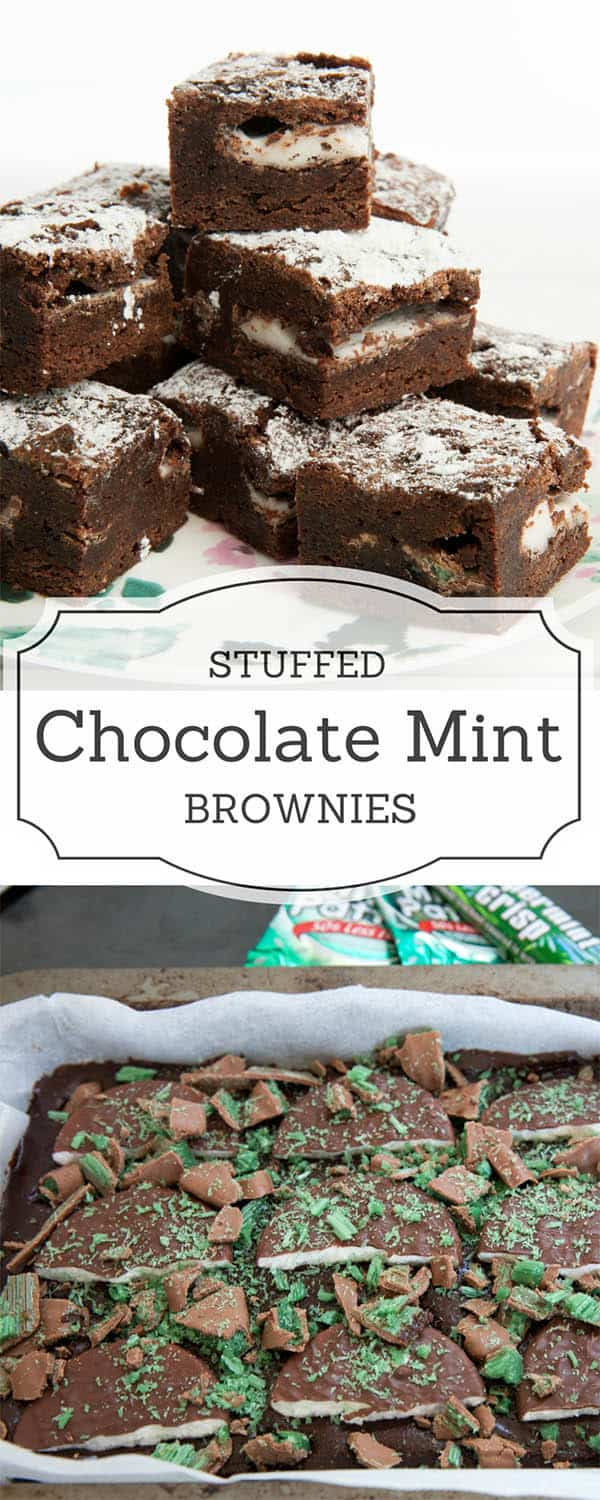 Thermomix Peppermint Crisp Chocolate Brownie Recipe - A decadently rich, dense chocolate brownie with layers of peppermint and a vein of crispy green peppermint crisp. #Thermomix #thermomixbrownie #brownie #chocolate #chocolatebrownie #pepppermint