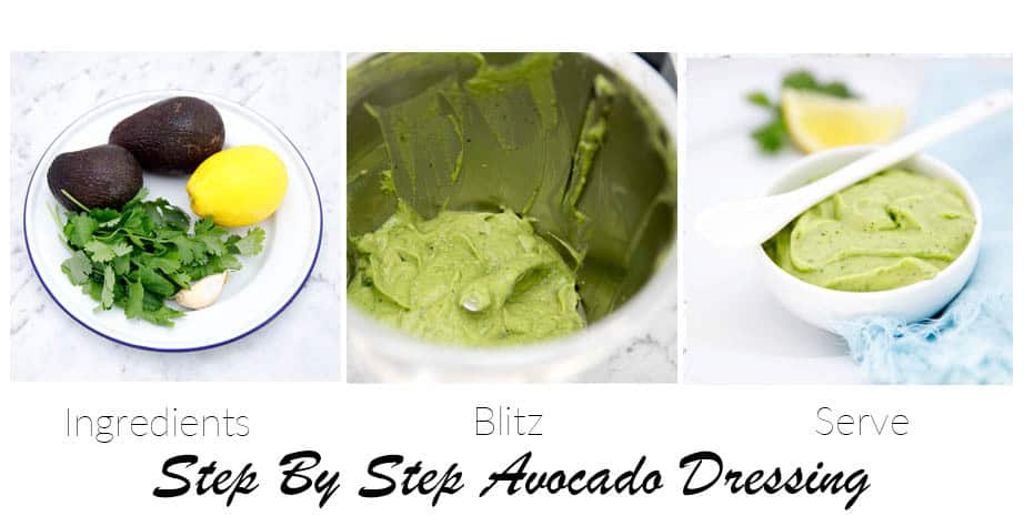 Step by step images of Kale salad being made