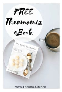 Image showing free Thermomix cookbook on on a plate