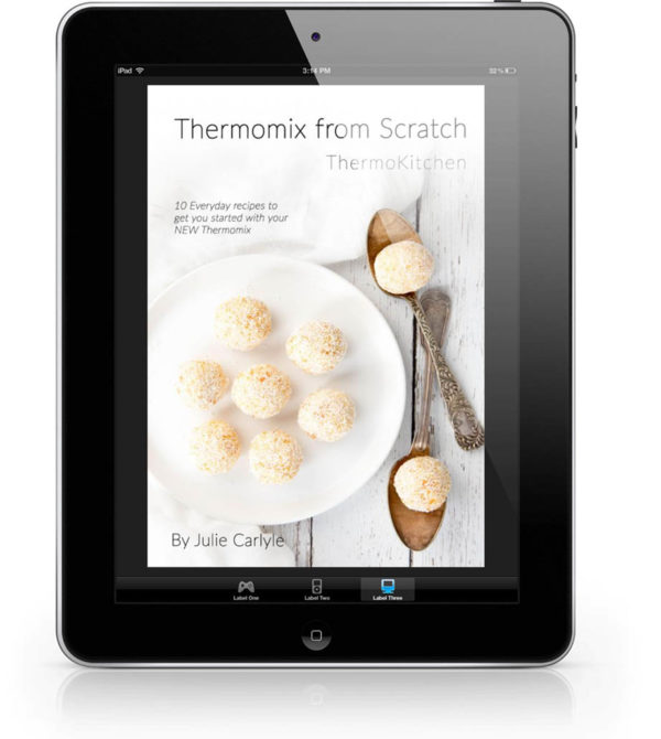 Image showing free Thermomix cookbook on iPad
