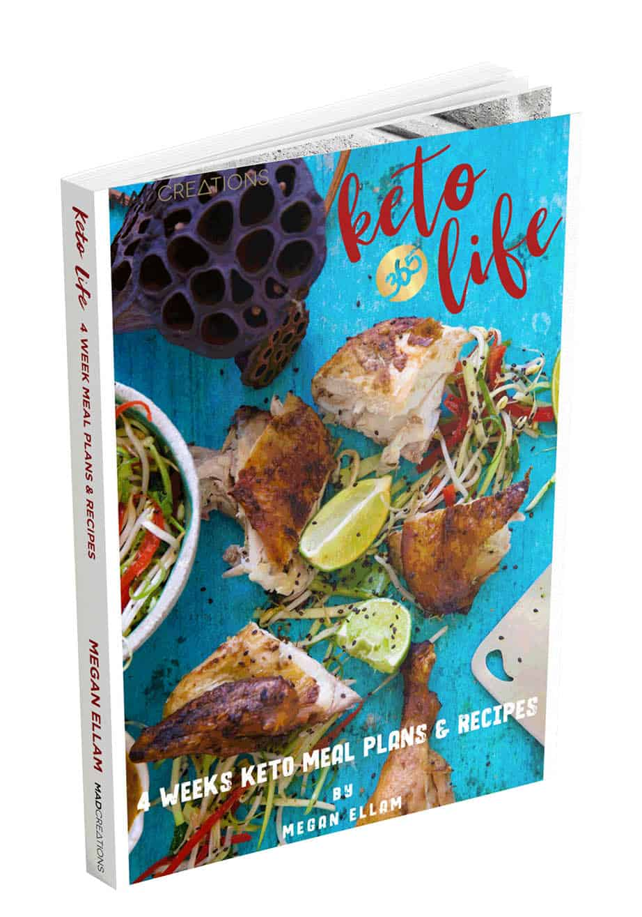 An image showing Keto Life Cookbook by Megan Ellam