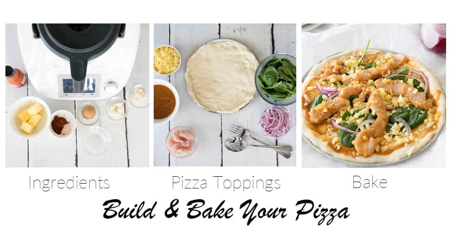 3 images showing Guide to making Buffalo Pizza Sauce