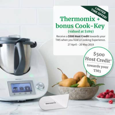 Thermomix TM5 discount offer, TM5 on a bench