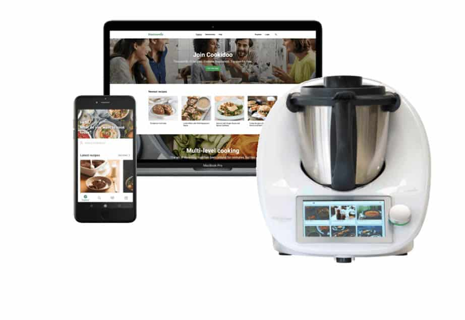 TM6 Thermomix Review showing machine and cookidoo