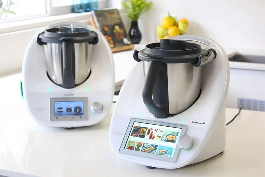 Thermomix TM6 next the TM5 to show comparisons between the two.