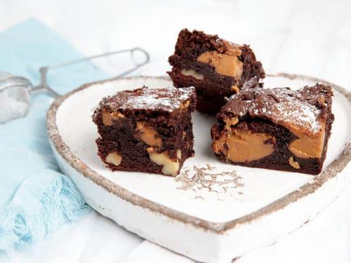 Gooey Thermomix Chocolate Caramel Brownie