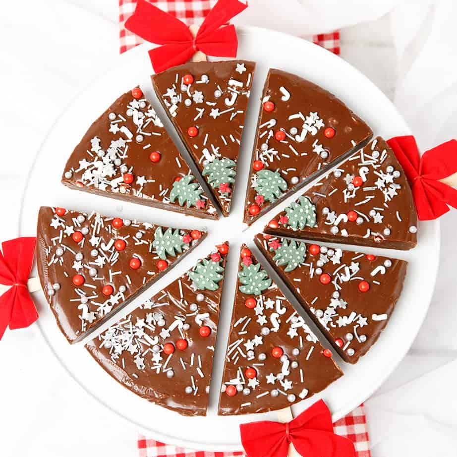 Round Chocolate Christmas Fudge