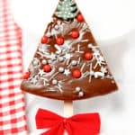 Chocolate Fudge in the shape of a Christmas Tree