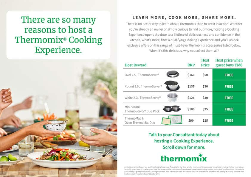 Thermomix Host Rewards Brochure