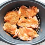 Seasoned chicken thigh fillets in Varoma