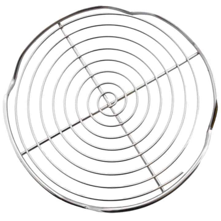 Thermomix wire trivet on white background