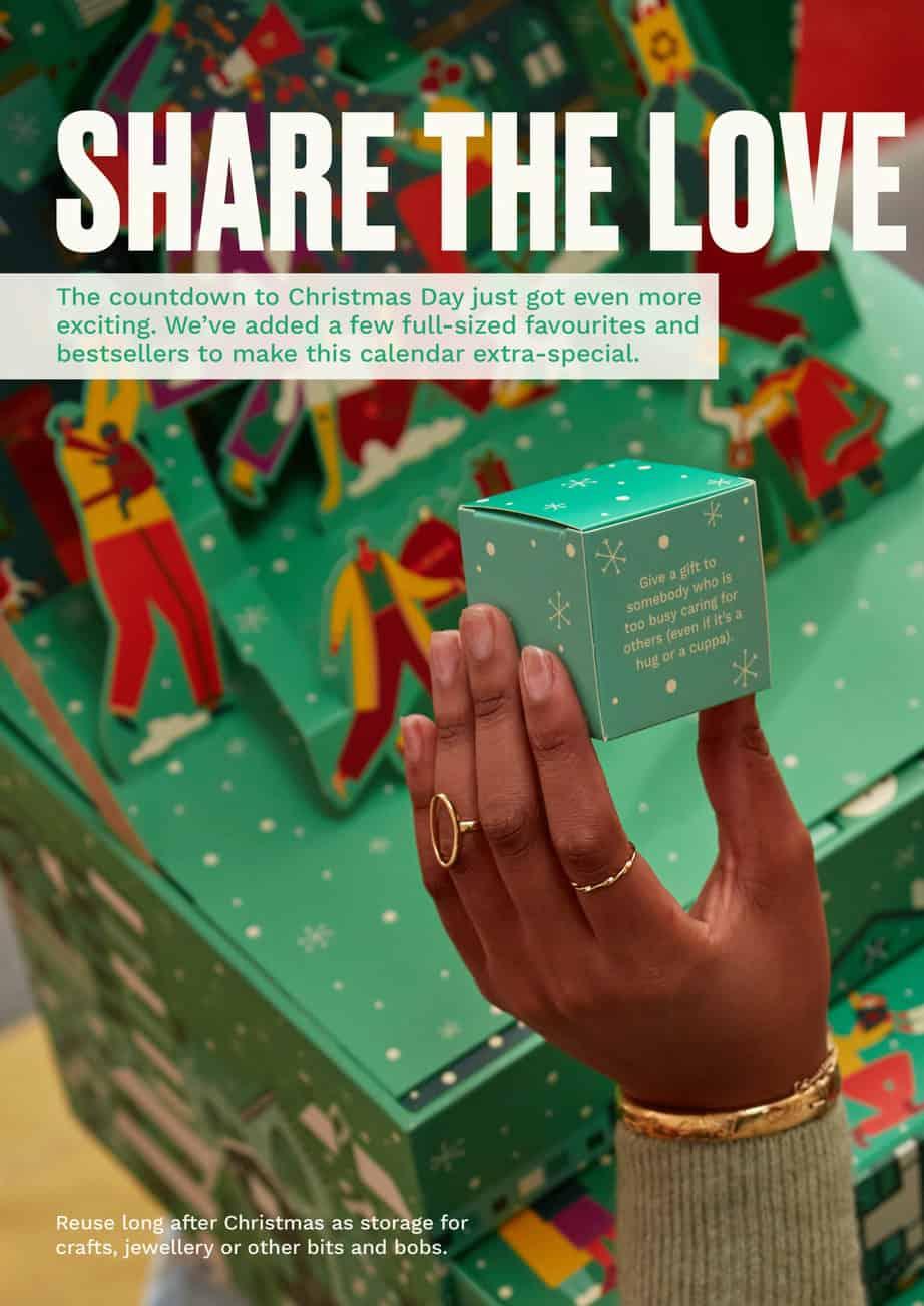 Body shop ultimate Advent Calendar Australia Advent Calander share the love and joy Pack