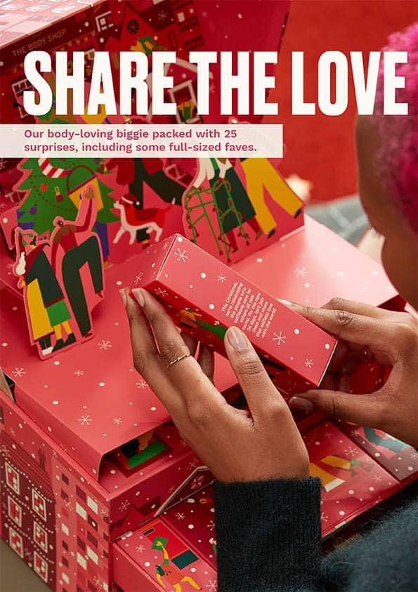 Body Shop advent calendar 2021 - Share the love Pack
