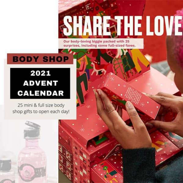Body shop products advent calendar